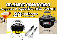 "Logo Concorso Life "" Party Time "" : vinci 20 Barbecue Weber Smokey Joe Premium"