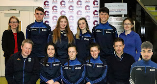 Sports Scholarship Recipients 2018-2019 with staff