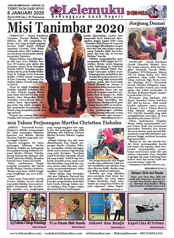 Tabloid Lelemuku #22 - Misi Tanimbar 2020 - 06 Desember 2019