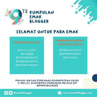 Festival Literasi Digital 2021 Ulang Tahun ke 9 Kumpulan Emak Blogger Nurul Sufitri Travel Lifestyle Blog