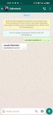 cara membuat jawaban otomatis whatsapp
