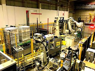 streç bobin paletleme robotu abb robot