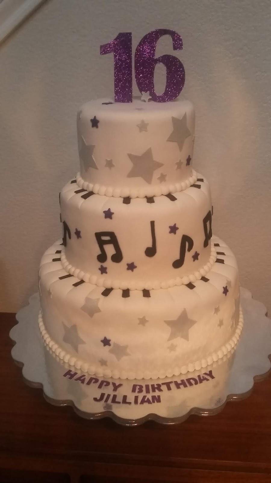 Swell My Cake Hobby Sweet 16 Music Themed Birthday Cake Funny Birthday Cards Online Alyptdamsfinfo