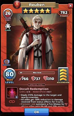 Reuben Hero Card Empires and Puzzles