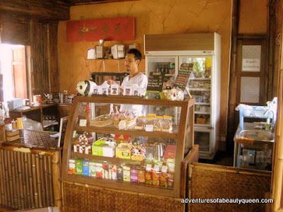 barra de madera para café