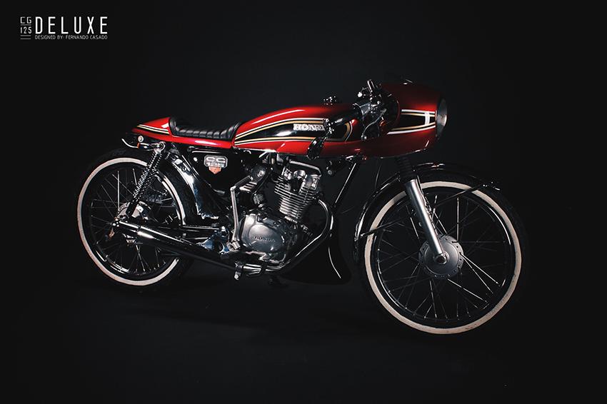 Honda CG 125 - Cafe Racer Deluxe by Fernando Casado.  6d8d395162787