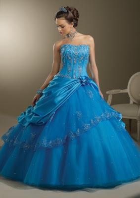 ideas de vestidos de 15 Años Azul Turquesa
