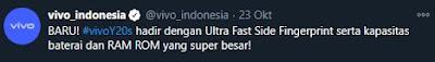 Via Twitter @vivo_indonesia