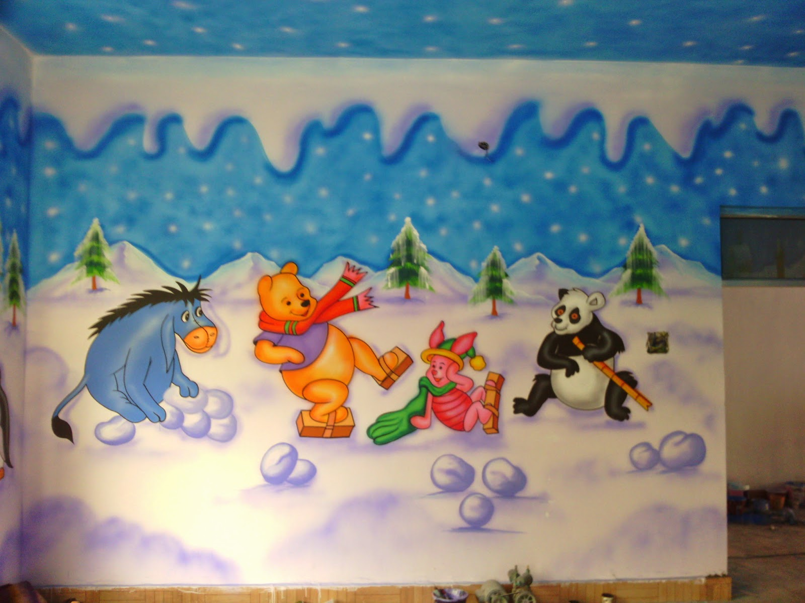 PLAY SCHOOL WALL PAINTING/CARTOON PAINTING/KIDS ROOM ...