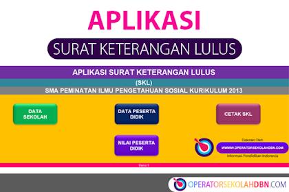 Aplikasi Surat Keterangan Lulus (SKL) Tahun Pelajaran 2019/2020 SMA Peminatan Ilmu Pengetahuan Sosial Kurikulum 2013