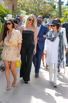 The Kardashian's all turn out to celebrate another day of their Grandmother's 82nd birthday