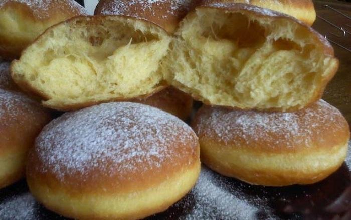 Пышные пончики как у бабушки всего за час - с расстойкой и жаркой (из ночного теста)