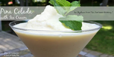 Pina Colada Ice Cream Float, shared by A Dish of Daily LIfe