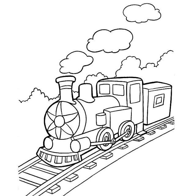 صورة قطار للتلوين