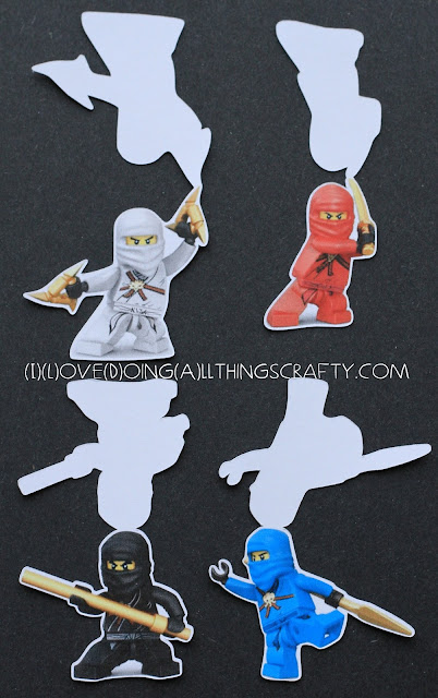 Ninjago Cupcake Toppers - Free Print and Cut Silhouette File