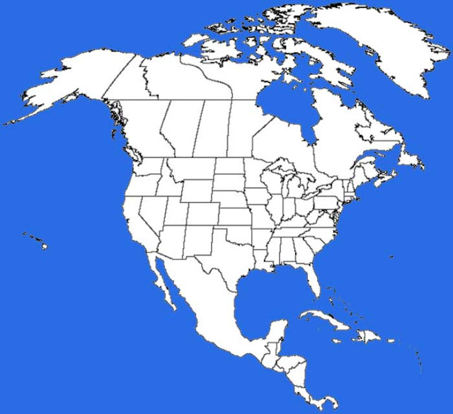 image: North America Map Blank Outline