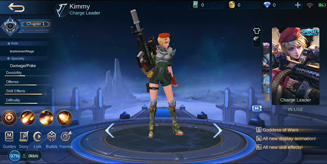 Skin Spesial Kimmy Charge Leader