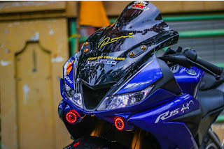 R15v3 modif R1, R15 v3 modif mesin R25, R15 v3 warna biru modif lampu,R15 v3 warna biri Modif Headlamp R1