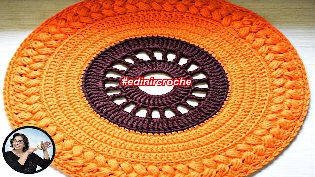 Como fazer lindo sousplat em crochê decoração mesa halloeen com curso edinir croche club passo a passo