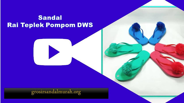 grosirsandalmurah.org-Sandal Wanita-Rai Teplek Pompom Wanita