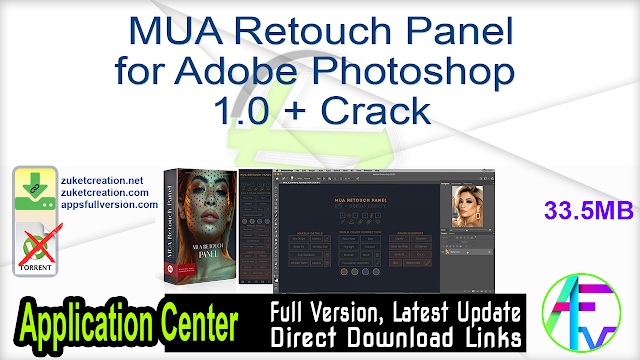 MUA Retouch Panel for Adobe Photoshop 1.0 + Crack