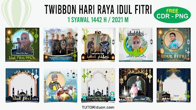 Desain Twibbon Idul Fitri CDR