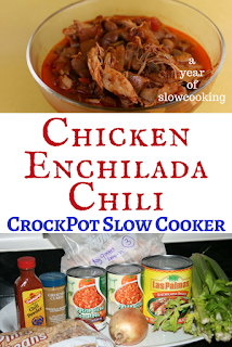 Gluten Free Chicken Enchilada Chili recipe made easily at home in the crockpot slow cooker