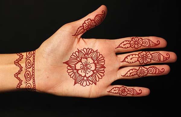 Contoh Henna Simple Telapak Tangan Materi Pelajaran 10