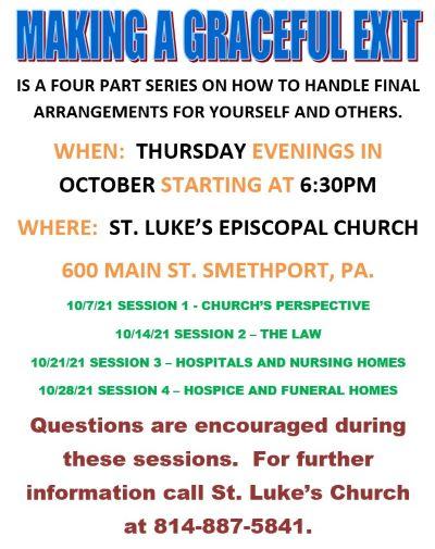 10-7/14/21/28 St. Luke's Program