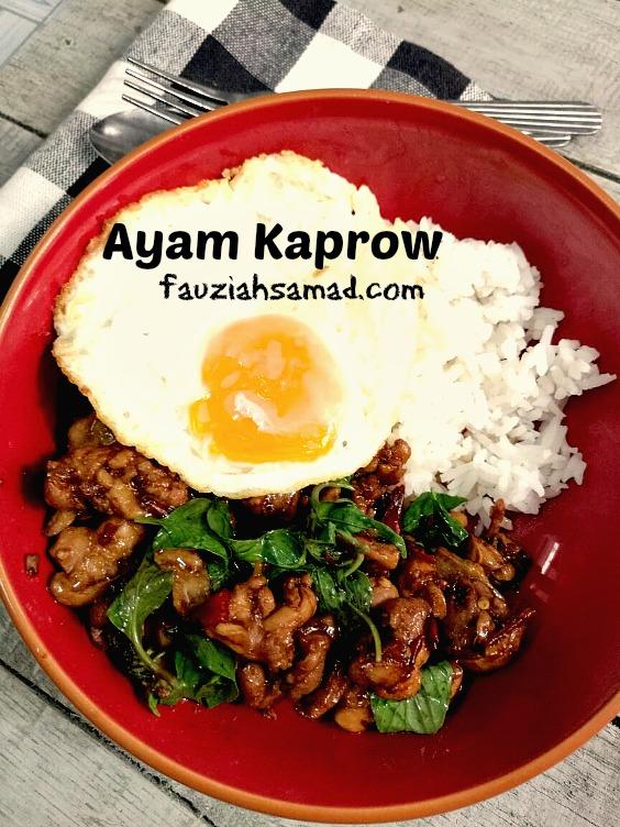 ayam resepi ayam cincang thai Resepi Nasi Goreng Paprik Thai Enak dan Mudah