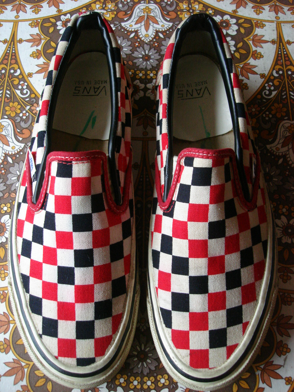 205cf32c366a38 ... white black US8 off the wall 80 s bmx. vintage vans style  98 slip-on  tri checkerboard made in usa circa 1985 used (without box) US8 UK7-7.5