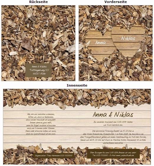 Hochzeitskarten Online Bestellen Einladungskarten Holzerne Hochzeit