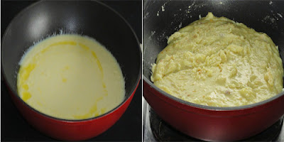 ghee added and cooked mixture