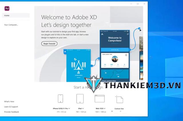 huong dan cai dat Adobe XD 2020