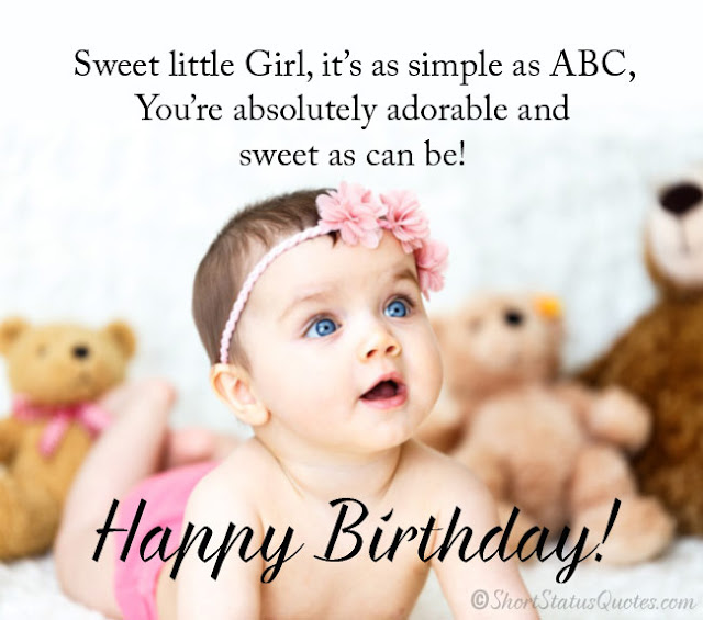 Admirable 50 Sweet Happy Birthday Wishes For A Little Girl Of 2020 Personalised Birthday Cards Bromeletsinfo