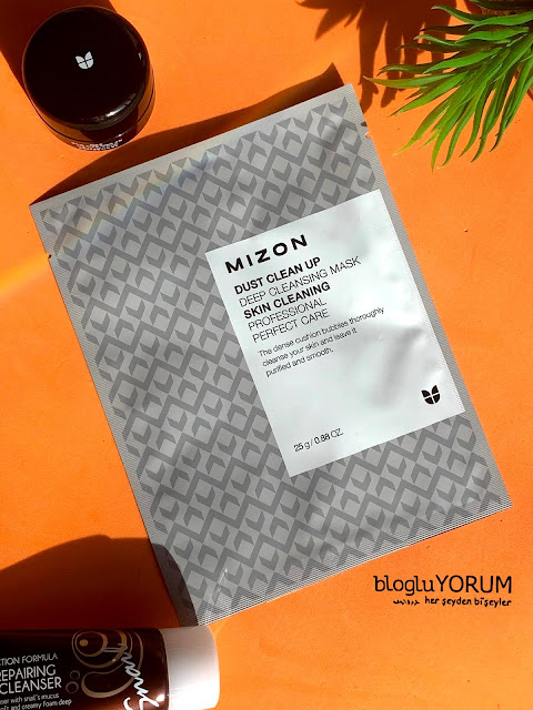 mizon dust clean up deep cleansing mask köpüren maske incelemesi