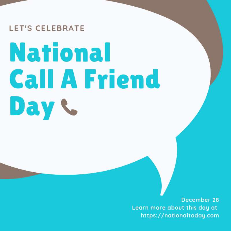 National Call a Friend Day Wishes Photos