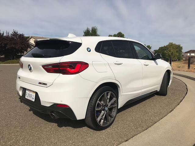 Rear 3/4 view of 2019 BMW X2 M35i