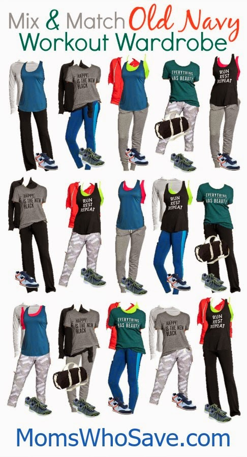 Old Navy Mix & Match Workout Wardrobe -- 15 Stylish and Affordable Outfits