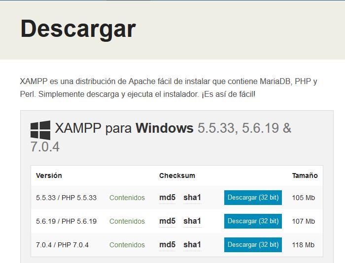 Descargar Xampp Control Panel V3.2.1