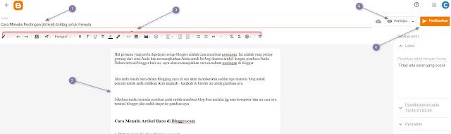 Cara Menulis Artikel Baru di Blogger.com