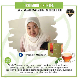 Testimoni Cinch® Tea Mix shaklee tak mengantuk