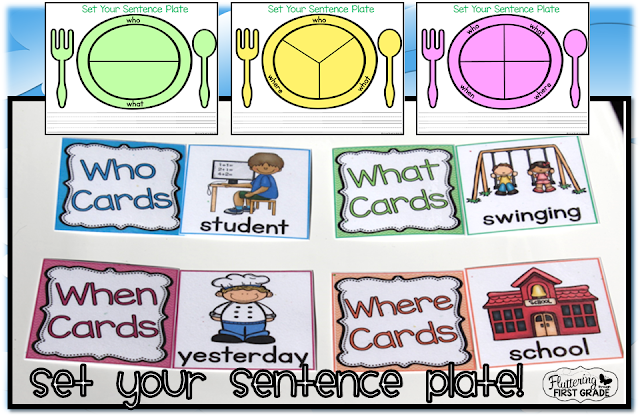 Set your sentence plate with the Sentence Chefs! Kids will be cooking up silver platter sentences in no time.