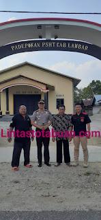 Jalin Silaturrahmi, Kapolres Lambar Sambangi Padepokan PSHT Cabang Lambar