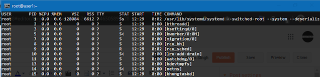 how to use ps command in Linux to monitor processes