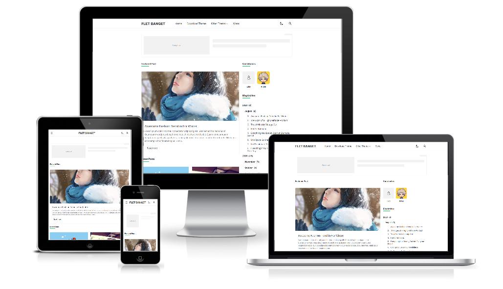 Flet Banget Premium Blogger Template Free Download