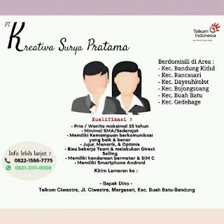 Loker PT Kreativa Surya Pratama Bandung Agustus 2020