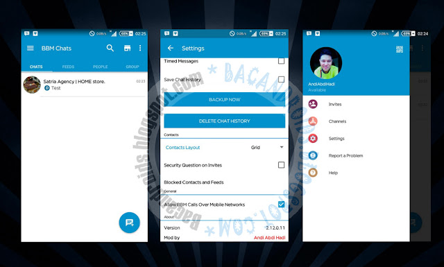 download Update App BBM Mod Versi 2.12.0.11 Tema Tampilan Official