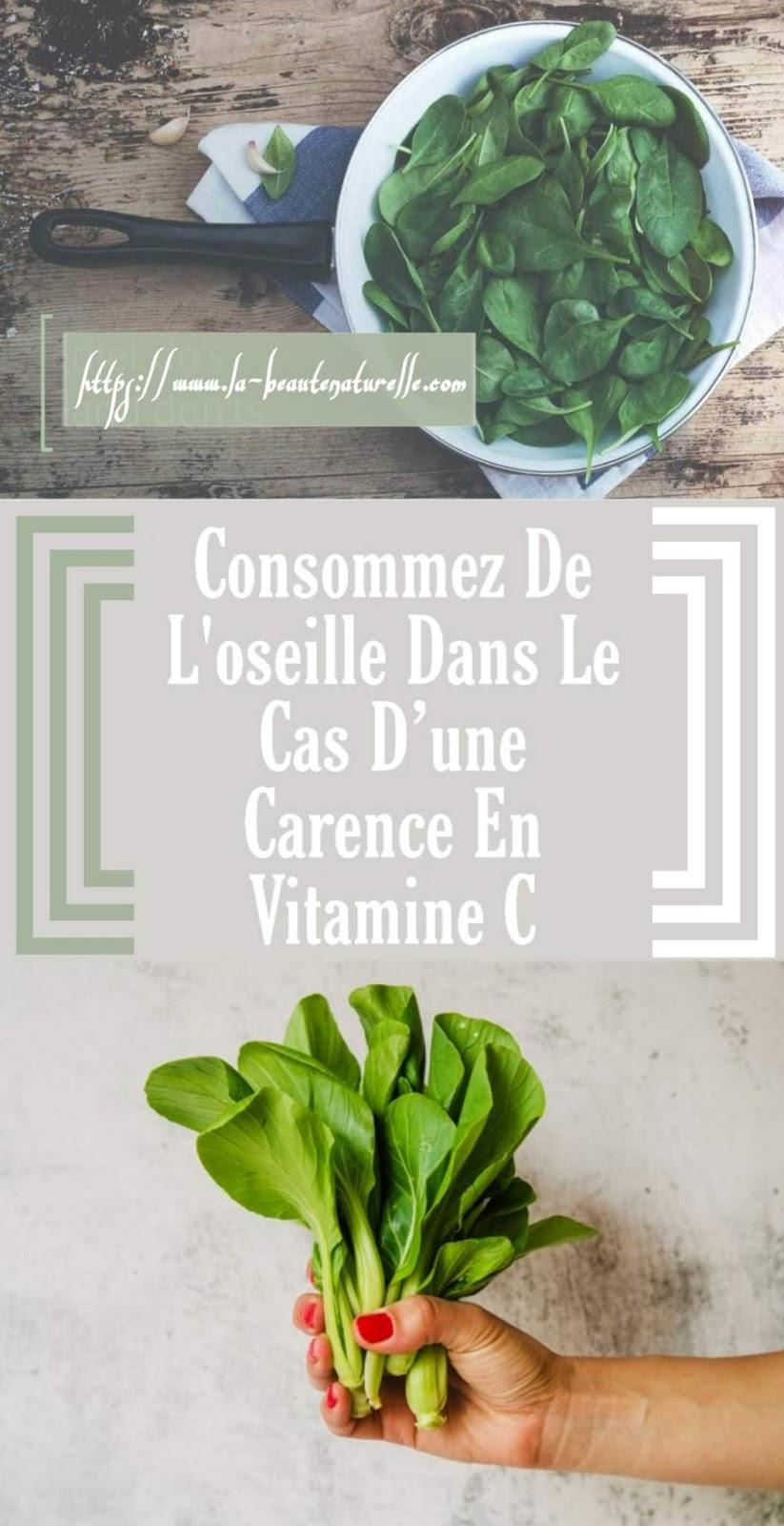 Consommez De L'oseille Dans Le Cas D'une Carence En Vitamine C