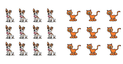 Figure: What is the ratio of dogs to cats in this image?